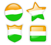 Indian Flag Badges Stock Images