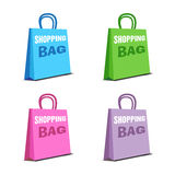 Set of four shopping bags Stock Photography