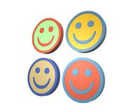 A set of four smiling faces Royalty Free Stock Images