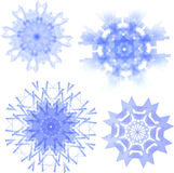 Set of four snowflakes Stock Photography