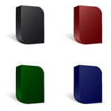 Set of four software package boxes with rounded corners Royalty Free Stock Images
