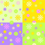 Set from four spring seamless patterns Stock Photography