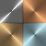Set of four square metal textures Stock Photo