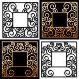 Set of four square vintage frames Stock Images