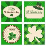 Set of four St. Patricks day backgrounds, invitati Stock Photos