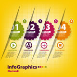 Set of four stickers for infographics Stock Photo