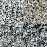 Set of four stone textures Royalty Free Stock Photo