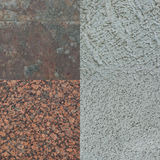 Set of four stone textures. Set of four different textures of stone high resolution for background Royalty Free Stock Images