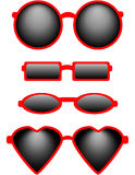 Set of Four Sunglasses Royalty Free Stock Images