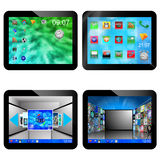 Set of four tablets 20.05.13 Royalty Free Stock Photography