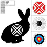 Set of four targets for printing. Royalty Free Stock Images