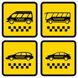 Set four taxi icons Royalty Free Stock Photos
