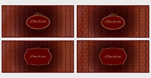 Set of four template invitation or greeting cards.  vector illustration