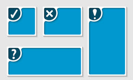 Set of four text frame Stock Image