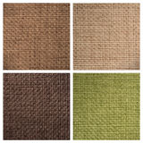 Set from four textile backgrounds Stock Photo