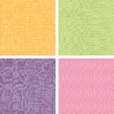 Set of four textile fabric textures seamless Royalty Free Stock Image