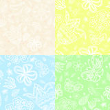 Set of four textured. Hand draw pattern backgrounds Stock Image