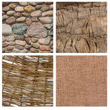 Set of four textures Royalty Free Stock Photography