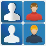 Set of four User icon of women. Royalty Free Stock Photos