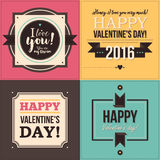 Set of four Valentine's Day banners Stock Images