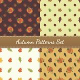 Autumn Patterns Vector Set royalty free stock images