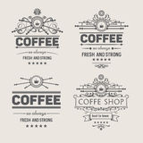 Set of four vector coffee badges. Set of four vector, vintage coffee badges for design your project Stock Image