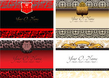 Set Of Four Vector Color Small Title Frame Royalty Free Stock Photos