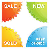 Set of four vector corner labels Royalty Free Stock Image