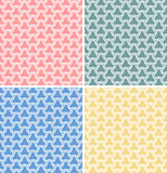 Set of four vector geometric seamless patterns Stock Images