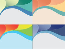 Set of four vector greeting cards backgrounds. Royalty Free Stock Images