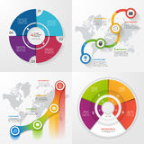 Set of four vector infographic templates. 4 options Stock Image