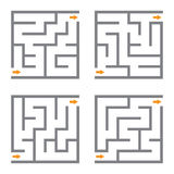 Set of four vector maze Stock Image