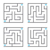Set of four vector mazes. Vector illustration Royalty Free Stock Photos