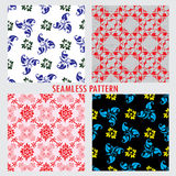 Set of four vector patterns Royalty Free Stock Photo