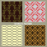Set of four vector patterns . Royalty Free Stock Photo