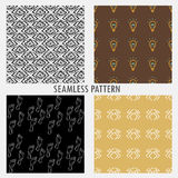 Set of four vector patterns Stock Images