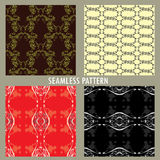 Set of four vector patterns. Royalty Free Stock Image