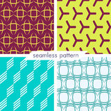 Set of four vector seamless geometrical patterns_12 Stock Photography