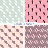 Set of four vector seamless geometrical patterns_15 Royalty Free Stock Images