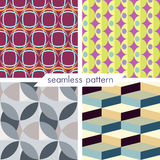Set of four vector seamless geometrical patterns_11 Royalty Free Stock Photography