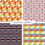 Set of four vector seamless geometrical patterns_13 Royalty Free Stock Images