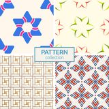 Set of four vector seamless patterns. royalty free illustration