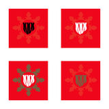 Set of four vector signs. XXX. Royalty Free Stock Photos