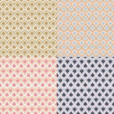 Set of four vector  vintage patterns in pastel colors Stock Photo