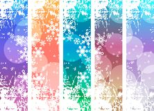 Set with four vertical winter banners. Royalty Free Stock Photo