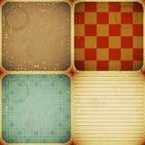 Set of four vintage backgrounds Stock Image