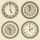 Vintage Clock Set Royalty Free Stock Photos
