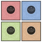 Set of four vintage colorful abstract backgrounds. With area for text Stock Photography