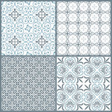 Set of four vintage decorative symmetric seamless patterns Stock Photography
