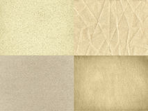 The set of four vintage paper textures royalty free stock photos